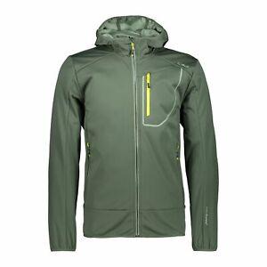 Details zu CMP Softshelljacke Jacke Man Fix Hood Jacket grün winddicht wasserdicht