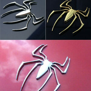 3D Universal Car Truck Spider Chrome Badge Sticker Logo Emblem Decal Spiderman
