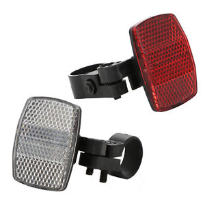 Road Cycle Bike Bicycle Reflector Light Reflective Strips Stick Front Rear Kit .
