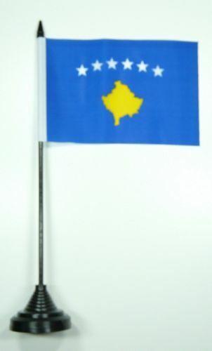 Tischfahne Kosovo 10 x 15 cm Fahne Flagge