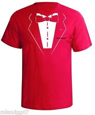 Funny T-Shirt Tuxedo Wedding Groom Tie Shirt  SIZES S-5XL