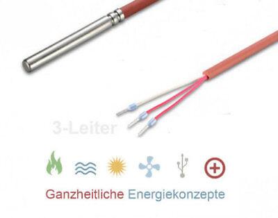 PT 100 2 Meter 3-Leiter Temperaturfühler SIL bis 200°C 2m Kabel fühler PT100