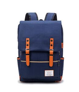 Calidad-Hombre-Azul-Oscuro-Ingles-Estilo-Oxford-Lona-Mochila-mbag29