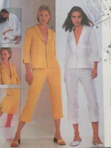 Burda-Sewing-Pattern-8810-Misses-Ladies-Pants-Jackets-Size-8-18-Uncut