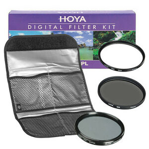 NEW HOYA Digital Filter Kit (HMC UV + CPL + ND8) 3 Filter Set with Pouch 55mm