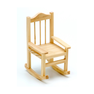 Miniature Wood Rocker Unfinished Rocking Chair Small Doll Chair