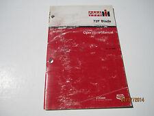 Case Ih 72f Blade Operators Manual Tractor 275245255