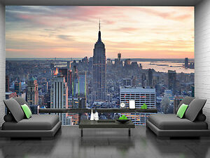 Details About New York Skylineat Sunset Wall Mural Photo Wallpaper Giant Decor Paper Poster