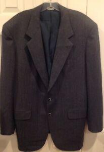 Brioni-Roman-Style-42-Sport-Coat-Jacket-Blazer-Gray-Single-Breasted-Italian-52