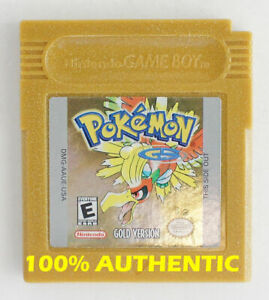 AUTHENTIC-Pokemon-Gold-Version-Save-Properly-New-Battery-Game-Boy-Color