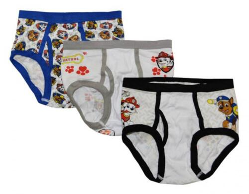 Paw Patrol Boys 3 Pack Assorted Color Underwear Briefs Size 4 8