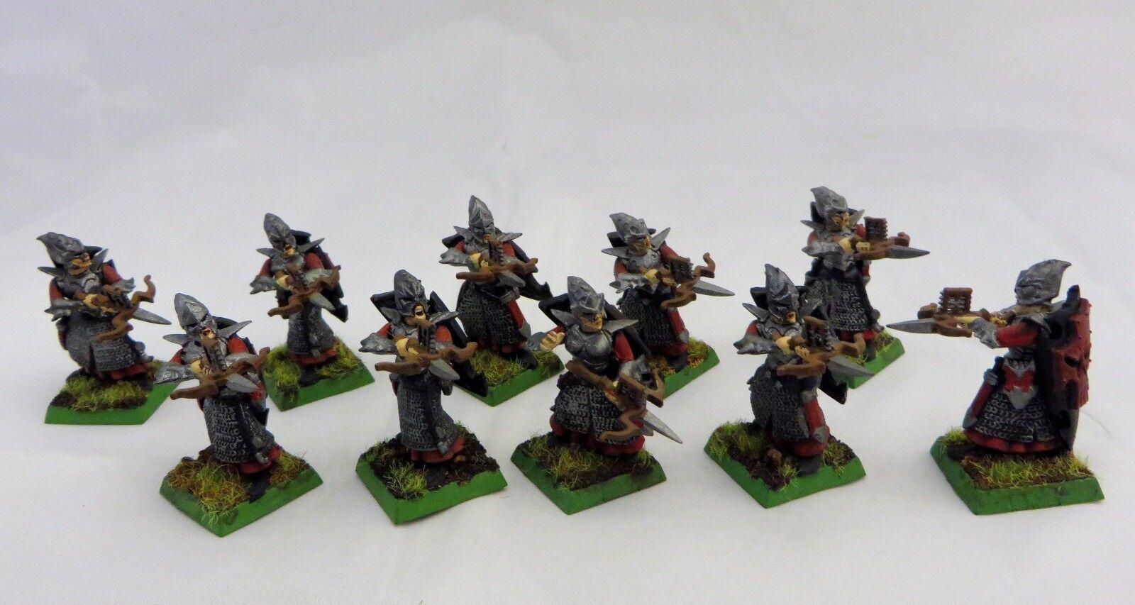 Warhammer Fantasy Dark Elf  Warriors crossbows crossbows crossbows  painted table ready army lot 66de9d