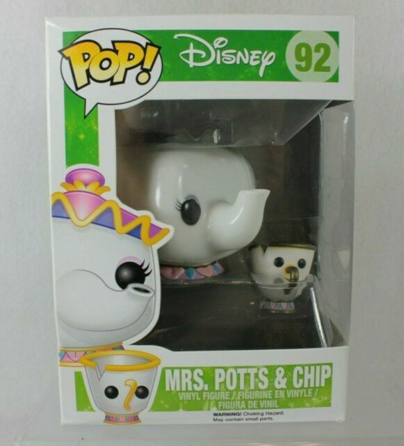Funko Pop Vinyl Figure Disney Beauty /& The Beast Mrs Potts and Chip