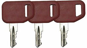 3-pcs-lot-John-Deere-Multiquip-Indak-Heavy-Equipment-Ignition-Keys-51481