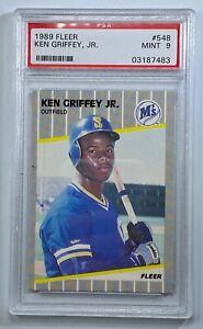 Ken-Griffey-Jr-Rookie-Card-1989-Fleer-548-Seattle-Mariners-PSA-9-MINT