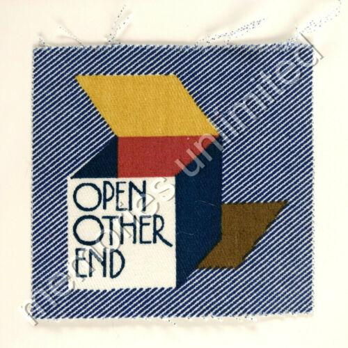 1977 Nabisco Cereal Prize STITCH'EMS SEW ON PATCH 'OPEN OTHER END'