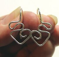 Twisted Fancy Looped and Hammered INTERCHANGEABLE Earring Wires Sterling Silver
