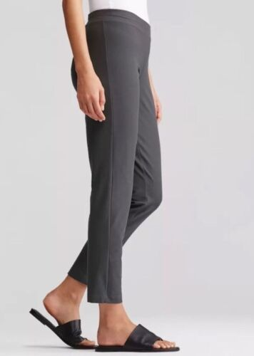 1X  EILEEN FISHER Bark Washable Stretch Crepe Slim Ankle Pants NWT