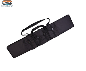 Estuche Acolchado Negro Rifle táctico de armas con 3 Bolsa de utilidad Disparo Airsoft