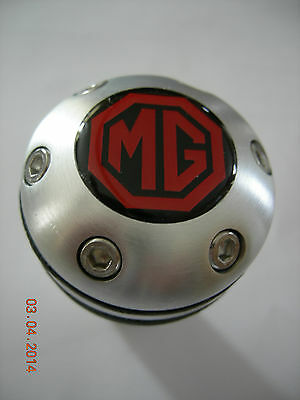 MG MGB MGA MIDGET  ALUMINUM LEATHER GEAR SHIFT KNOB UNIVERSAL BEER TAP CANE TOP