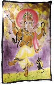Batik Fatto a Mano Ganesh Elefante 118x74cm Appeso 9