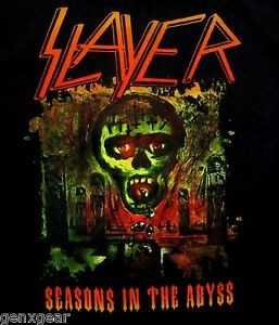 SLAYER cd cvr SEASONS IN THE ABYSS Official SHIRT SMALL new