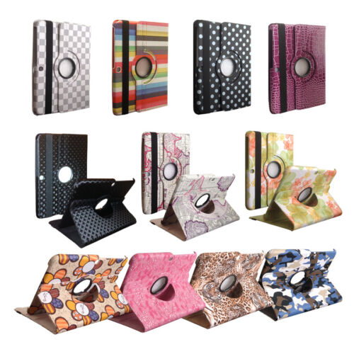 "360 Rotating Leather Cover Case Stand for 10.1/"" Samsung Galaxy Tab 3 P5200//P5210"