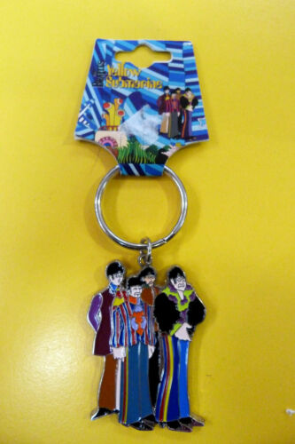THE BEATLES BAND YELLOW SUBMARINE METAL COLLECTABLE KEY RINGS RING  NEW