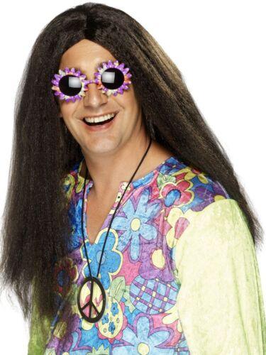 Perruque Hippie Pour Homme Marron Noir Hippie 60s 70s Ozzy Frank rocker COSTUME ROBE FANTAISIE