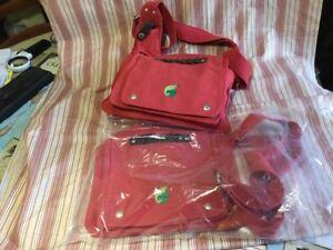 285a8dd45e Sac à bandoulière coton +chanvre bio rouge Terre de chanvre | eBay