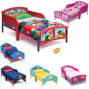 Details About Toddler Bed Boys Girls Kids Bed Frame Side Rails Bedroom Furniture Pick Color