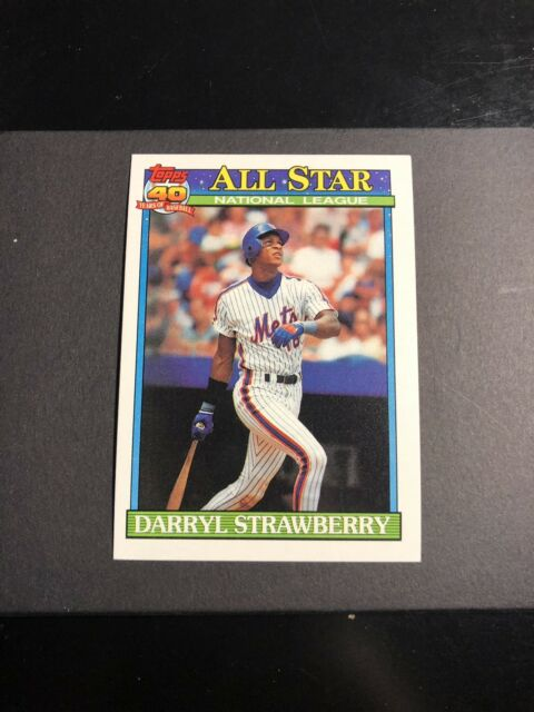 1991 Topps 40 Years Of Baseball Darryl Strawberry All Star Baseball Card