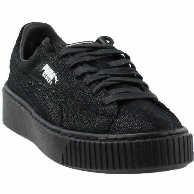 Puma Basket Platform Reset Sneakers Casual - Black - Womens