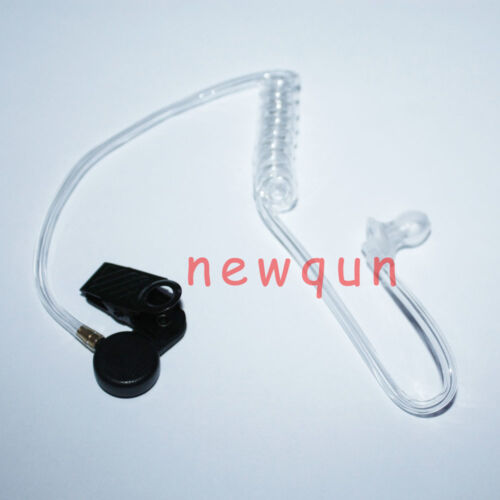 Replacement Clear Coil Acoustic Air Tube For Walkie Talkie Earpiece