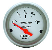 Autometer Ultra Lite Pre-1965 Chevy Gm Buick Analog Fuel Level Gauge 2 1/16