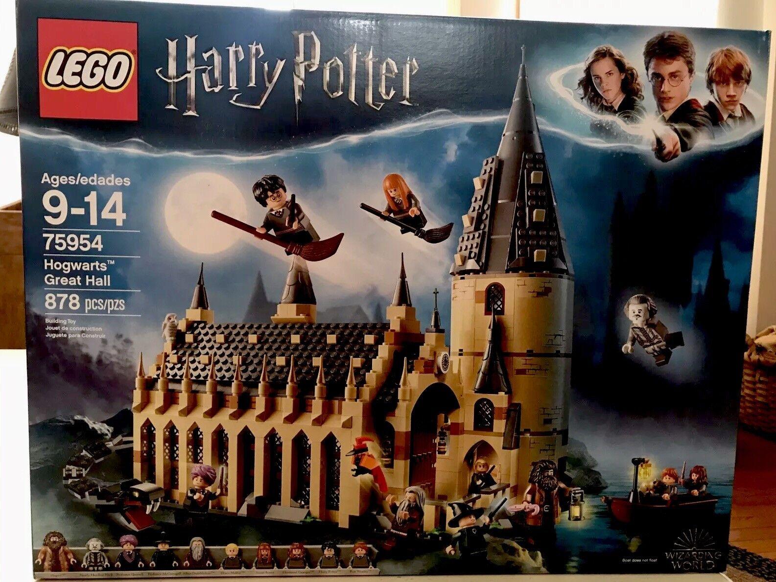 Lego Harry Potter Hogwarts Great Hall Castle Set Legos Kit Free Shipping 75954