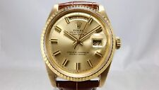 "ROLEX VINTAGE 18K GOLD DAY-DATE ""WIDE BOY"" PRESIDENT CHRONOMETER WATCH 1803"