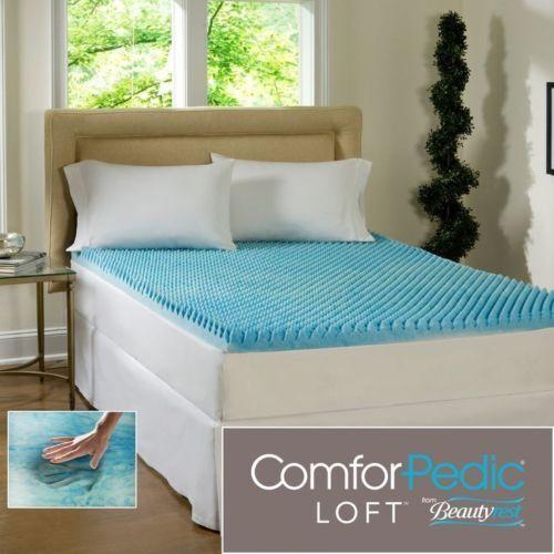 NEW  COOL 3  TEXTUrot ULTIMATE MAX COMFORT MEMORY FOAM GEL BED MATTRESS TOPPER