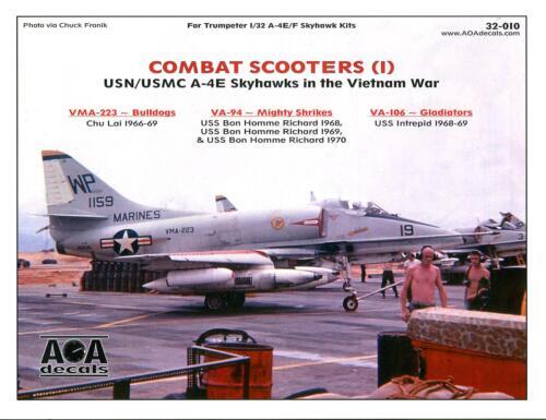 AOA Decals 1//32 COMBAT SCOOTERS Part 1 USN /& USMC A-4E SKYHAWKS IN VIETNAM
