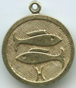 Analytisch Gy665 - Anhänger Echt Gold Sternzeichen Fische 1,5 Gramm