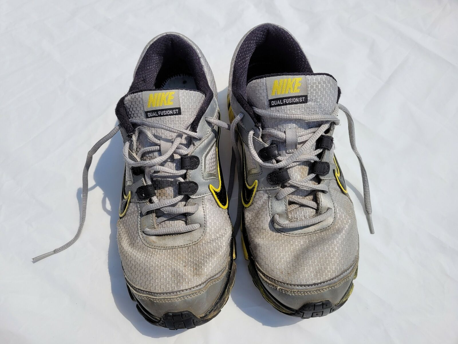 Nike Mens Shoes Silver Yellow and Black Dual Fusion Running Shoe Size 11 on eBay thumbnail