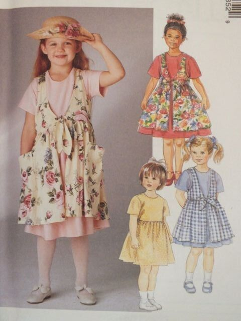 Sweet//EZ OOP McCALLS 2144 Girls Dress in 8 Looks PATTERN 3-4-5-6-7-8-10-12-14 UC