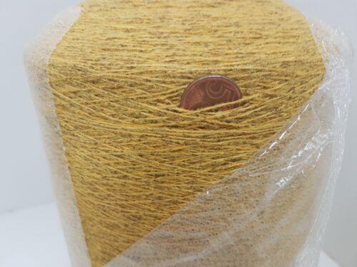 Wolle Garn Stricken weben /&häkelngelb meliert   effekt kone 1,5 kg pay79