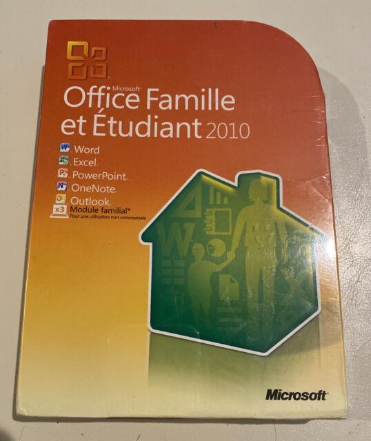 Microsoft Office Famille Et Tudiant 2010