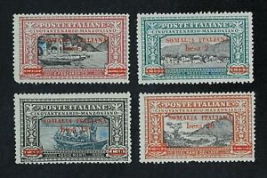CKStamps-Italy-Stamps-Collection-Somalia-Scott-61-64-Mint-H-OG-2-Spot-Thin
