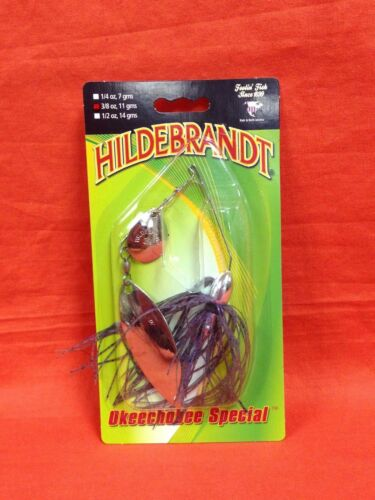 HILDEBRANDT Okeechobee Special Spinnerbait #359843 Nickel//Smoke 3//8 oz