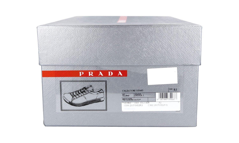 AUTHENTIC PRADA GREY SNEAKERS SHOES 4E2860 GREY PRADA SUEDE NEW US 9 EU 42 42,5 6d1e0b