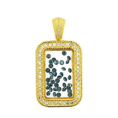 Johnny Dang & Co10K Floating Diamond Bar Pendant With White Diamonds