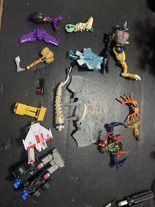 LOT!! Various Transformers, Digimon Parts Lot Beast Wars G1 Devastator
