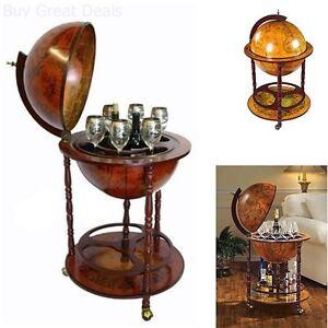 Image Is Loading Bar Globe Old World Italian Wine Liquor Cabinet